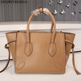 Wholesale Crochet Cow Free - Luxury Leather Totes Factory Direct Sale Women Buisness casual handbags plain cow leather NO 2952 size 27*23*19cm free shipping