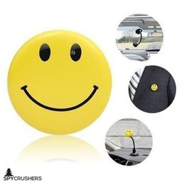 Wholesale Smiley Face Pin Badges - Smiley Face Pin Spy Camera & Hidden Digital Video Recorder, Best Smile Face Badge Wearable Camera Mini Video Recorder, Photo, Video & PC Web