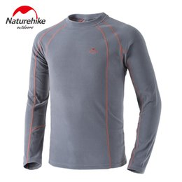 Wholesale Outdoor Thermal Underwear - Naturehike New Outdoor Camping Hiking Men's Thermal Undershirt Winter Thickened Base layer Polar Fleece Underwear NH15Z006-Z