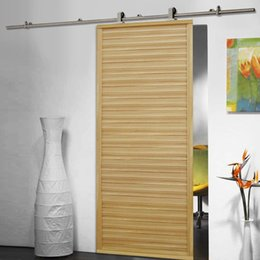 Wholesale Barn Sliding Door Track - 6.6 FT Modern Stainless Steel Sliding Barn Wood Door Closet Hardware Track Set