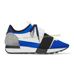 Wholesale Perfect Clear - Most Hot Women's Sneakers Paris Blue Famous Luxury Brand Shoes Men Flats Perfect Mix of Style and Practicality Various Colors Sizes 35-46