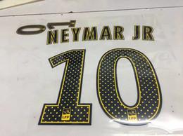 baumwollspitze bestickte borte Rabatt 2017 2018 Paris NEYMAR JR Euro Champions Fußball trikots Hot print name set NEYMAR JR 10 # name gesetzt