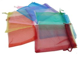 Wholesale Wedding Favours Bags - 500 Piece 10 x 15cm (4x 6 )inches Organza Gift Bags Wedding Favour Bags Jewelry Pouches, Pack of 100 Random Color 5Pack Lot