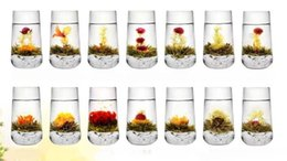 Wholesale Tea Bloom - 10pcs 10 kinds Blooming tea, individual package Artistic Blossom Flower Tea,,Free Shipping Free Gift