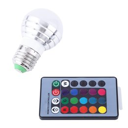 Wholesale led light blubs - Wholesale- LED RGB Bulb Lamp 85-265V E27 3W LED RGB Lamp Blubs Color Changing Stage Light Holiday Lighting with Remote Control for Bar KTV