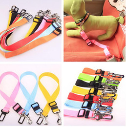 Wholesale Multi Adjustable - 1.5X 75CM Adjustable Car Vehicle Safety Seatbelt Seat Belt Harness Lead for Cat Dog epacket free