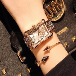 Wholesale Hand Drill Battery - 2017 hot sell The latest version Full drill luxury lady watch popular fashion Hand catenary watch vintage style