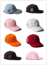 Wholesale Cheap White Baseball Hats - 2018 Cheap Hot Savage Box Logo Dad Hat Kanye West Martin Show Hat drake ovo Embroidered Baseball Cap Curved Bill Love & Basketball bone swag