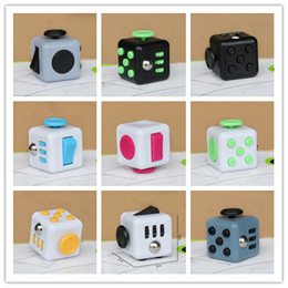 Wholesale Cheap Plastic Cubes - Fidget cube world's first American decompression anxiety Toys 11color with Retail Box good quality cheap price DHL free