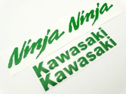 2019 serbatoio del gas del motociclo di honda Della decalcomania del motociclo verde 3D serbatoio carburante dell'emblema del distintivo della carenatura Per Kawasaki Ninja corsa