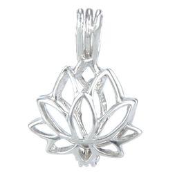 925 pendentif en argent médaillon, forme de perle pendentif perles perles de cage, peut ouvrir pendentif en argent sterling montage montage de bijoux bricolage ? partir de fabricateur