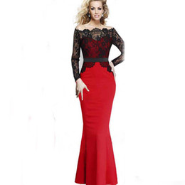 Wholesale Boutique Women S Dresses - 2017 foreign trade boutique Europe selling lace stitching skirt outfit speed sell evening dress skirt