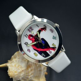 Wholesale Orange Spiderman - Free shipping New Fashion Cartoon Spiderman Child Watch Kids Quartz Sport Watch Student Boys Wristwatch Relojes Relogios