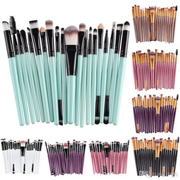 Ajuste de labios online-Profesional 20pcs Pinceles de maquillaje Set Cosmetic Face Eyeshadow Brushes Herramientas Kit de maquillaje Ceja Pincel de labios Contacto para Mia 2 Mia Fit