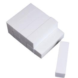 Wholesale Nail File White Buffer - Wholesale- 5pcs White Buffer Buffing Block Sanding Files Nail Art Tips Manicure Tool Beauty #81512