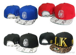 Wholesale Gorras Snapback Leopard - 4 Colors Album Offered Last Kings LK Snapback hats leopard snakeskin brim men gorras hip hop bones snap back New summer baseball caps