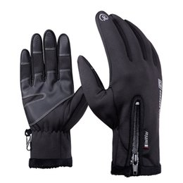 Wholesale Long Waterproof Gloves - High Quality Winter Warm Windproof Waterproof Long Full Finger MTB Road Bike Bicycle Men Sports Touch Screen Anti-slip Cycling Riding Gloves