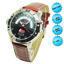 Wholesale Led Watch 8gb - 8GB 720P H264 HD LED Night Vision Watchproof Spy Watch Hidden Camera Video recorder