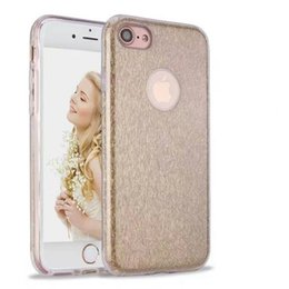 Wholesale Stylish Bag Case Cover - For Huawei P9 Lite P8 Lite Y635 TPU PC Bling Glitter Case Silver Gold Pink Casing Shining Stylish Color Hybrid Cover Opp Bag