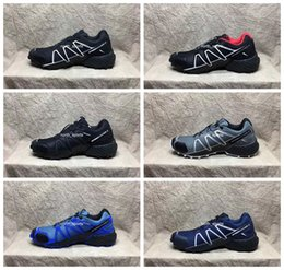 Wholesale Flat Shoes Branded - 2017 New Brand Speedcross 4 CS Running Shoes For Men, Breathable Waterproof Outdoor Athletic Sport Sneakers Hiking Shoes Eur Size 40-46