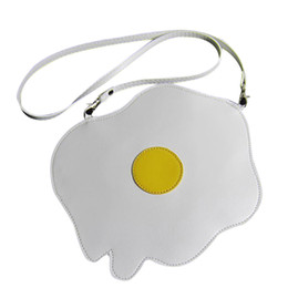 Wholesale Wholesale Shell Handbags - Wholesale- 2016 New Fashion Women Bags Handbag Shoulder Bag Poached Eggs Ladies Purse Cute Handbags High Quality Kawaii Bolsas Feminina