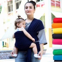 Wholesale Infant Newborn Baby Carrier Pouch - Baby Wrap Carrier Infant Breastfeed Gear Sling Carrier Backpack Pouch Breastfeeding Hipseat Newborn Strollers Carrier Sling 10pcs KKA1905