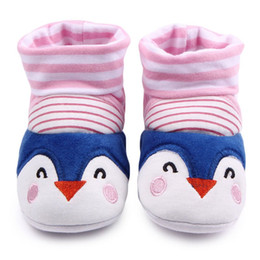 Wholesale Cartoon Girls Boots - Wholesale- Infant Baby Girls Boys Shoes Warm Cartoon Boot Anti-Slip Socks Slipper Crib Shoes Boots 0-12M