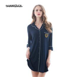 2019 оптовый соблазн новые сексуальные женские пижамы модальное искушение ленты гладкая рубашка ночная юбка женщина Ночные рубашки сна дамы пижамы рубашка