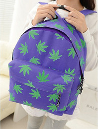 Wholesale Maples Leaves - New women backpack small fresh maple leaves printed canvas shoulder bag schoolbag canvas backpack Mochila feminina C1