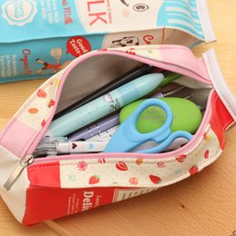 Wholesale Kids File - Pencil Case Bags Cartoon Milk Boxes Cute School Supplies Holders Children's Day Gift for Kids Coins Purse Fashion