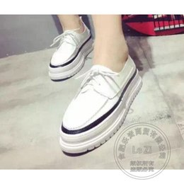 Wholesale Young Girls Shoes - Young Girl Superstar Litchi Grain Muffin Shoes Office Lady Solid Cheap Pu Plain Designer Brand Woman Leather Shoes Soft Leather