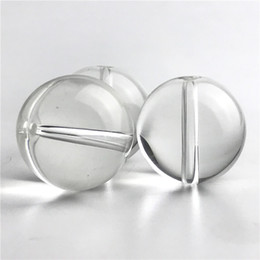 style flat ball cap Coupons - New Quartz Banger Carb Cap with Glass Bead Ball Style Clear XL Glass Carb Caps for Flat Top Thermal Banger Nail Water Pipes