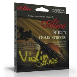 Wholesale Violin Brands - Wholesale- Alice Violin Strings A707 brand premium violin strings 4-string free shipping