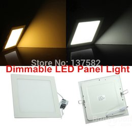 Wholesale Off Grid Light - Wholesale- 25 Watt Dimmable Ultra thin design LED Dimmable Ceiling Recessed Grid Downlight   Slim Square Panel Light