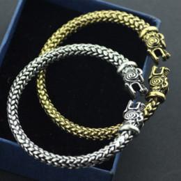 Wholesale Wolf Bracelets - The vikings Wolf Bracelets For Women Fashion Male Accessories Viking Bracelet Men Wristband Cuff Bracelets Bangles Teen Wolf