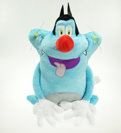 Wholesale Hobby Anime - Free Shipping 38Cm Oggy And The Cockroaches Fat Cats Toys &Hobbies Stuffed &Plush Toys