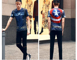 Wholesale Superman T - Summer Men T-shirts Casual Pullover Short Sleeve Hip Hop Superman 3D Printing Men T-shirt British Style Men Top Tee J170315