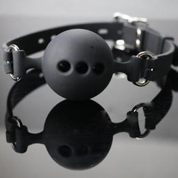 Articoli per adulti Rosa e nero tre dimensioni Mouth ball plug palla morbida bocca Giogo a bocca silicone Sex bondage sex toy bound da