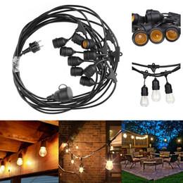 Wholesale E27 Plug Eu - Waterproof 9m 30ft 9 Heads E27 40W String Light Pendant Lamp for Garden Porches Pergola Outdoor Christmas Xmas Decor EU UK US Plug