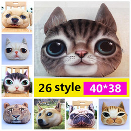 Wholesale Sofa Dogs - 3D Animal Pillow Case Cats Dog Head Pillow Cover Meow Star Doge Cushion Cases Cat Dog Face Pillowcases Home Sofa Car Decor YYA243