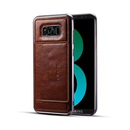 Wholesale Galaxy Pocket Strap - Luxury Fashion Electroplating PU Leather And TPU Back Case For Samsung Galaxy S8 Plus Plating Cell Phone Skin Cover With Card Slot Strap