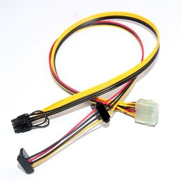 Wholesale hp cable adapter - PSU 10Pin to IDE Molex & SATA & PCIe PCI-E 8pin 6+2pin Adapter Converter Power Supply Cable Cord For HP DL160G6 18AWG 60cm