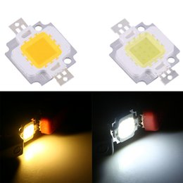 Wholesale Dc Led Bulb Replacement - Wholesale- 10Pcs Lot 10W LED Warm Cool White SMD Chip COB DC 9-12V For Lamp Flood Light Bulb Replacement