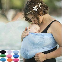Porta zaino online-Newborn Water Sling Kids Allattamento al seno Sling Hipseat Parenting Baby Stretchy Wrap Carrier Zaini Passeggini per bambini Gallus KKA2480