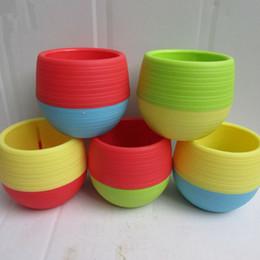 2019 grandi vasi da giardino Vasi da fiori di giardinaggio Piccolo mini Vaso di plastica variopinto di giardinaggio dei vasi della piantatrice del fiore dei vasi da fiori 100pcs che spedice liberamente