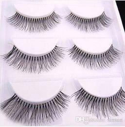 3afd79b6b7e 5 Pairs set Natural Sparse Cross Eye Lashes Extension Makeup Long False  Eyelashes wholesale price free shipping
