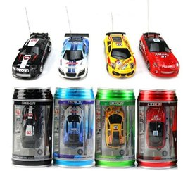 Wholesale Remote Control Racers - 2017 new style 4 col Mini-Racer Remote Control Car Coke Can Mini RC Radio Remote Control Micro Racing Car DHL Shipping!!!
