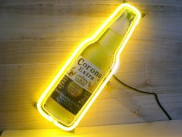 Wholesale Beer Wall Light - 330 neon sign CORONA EXTRA real glass tube light handmade bar beer club in the wall game room