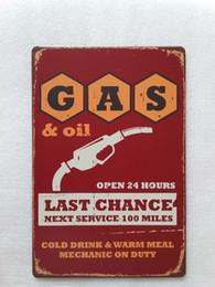 Café sinal aberto on-line-Gasoil Aberto 24 horas sinal de lata Vintage em casa Bar Pub Hotel Restaurante Coffee Shop em casa Decorativo Metal Retro Metal Poster Placa de lata