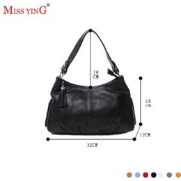 Wholesale Miss Handbags - Wholesale- MISS YING Summer Autumn Genuine leather Women's Handbag  Cowhide one shoulder messenger bag for women   Hot selling leather bags